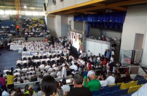 El Consejo de Gabinete Ampliado se realizó en el colegio Abel Bravo. Foto de Diómedes Sánchez