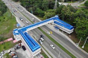 El puente peatonal de la Universidad Tecnológica de Panamá tuvo un costo de un millón 735 mil 272 dólares con 50 centavos.