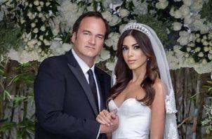 Quentin Tarantino y su esposa. Foto: Instagram