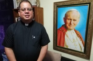 Padre Rafael Ochomogo, coordinador de los Días en las Diócesis y liturgia en la JMJ Panamá.   Miriam Lasso
