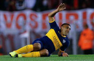 Ramón 'Wanchope' Ábila durante el partido de Boca Juniors ante River Plate por la Copa Libertadores. Foto EFE