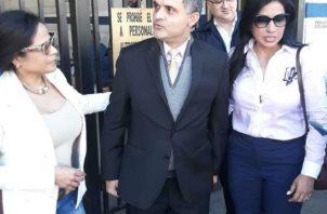 Ramsés Owens, a su salida de la Dirección de Investigación Judicial (DIJ), donde estaba detenido. Cortesía