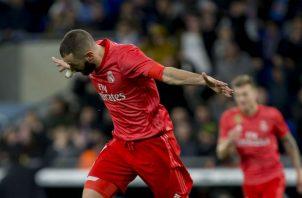 Karim Benzema alcanzó su noveno gol de la temporada. Foto AP