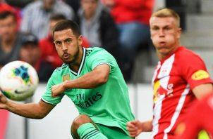 Eden Hazard anotó su primer gol con el Real Madrid. Foto EFE