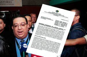 El fiscal Ricaurte González  firmó el argumento del Ministerio Público. Foto de Víctor Arosemena