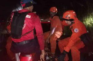 Fue llevado a la sala de urgencia de la policlínica de Sabanitas. Foto: Diómedes Sánchez S.