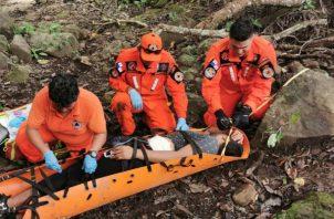 El joven sufrió una lesión en la espalda que le impedía caminar. Foto: José Vásquez.