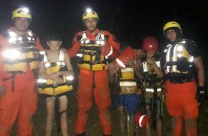 Menores se bañaban en el Río Pacora pese advertencia de mal tiempo. Foto/Cortesía