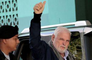 El expresidente Ricardo Martinelli estuvo dos años detenido por el caso pinchazos telefónicos. Foto: Víctor Arosemena.