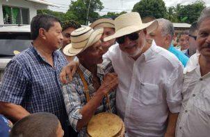 Ricardo Martinelli fue recibido por simpatizantes  de su partido y de su gestión gubernamental. Thays Domínguez
