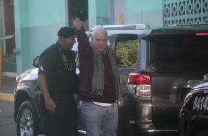 Ricardo Martinelli al llegar al juicio oral en el SPA.
