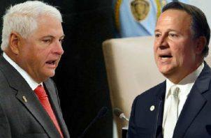 El expresidente Ricardo Martinelli (izq.) es víctima de persecución política de Juan Carlos Varela (dcha.). Foto: Panamá América