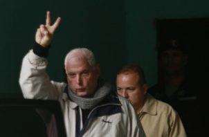 El expresidente de la República Ricardo Martineli a su salida del Sistema penal Acusatorio (SPA). Foto/Archivos