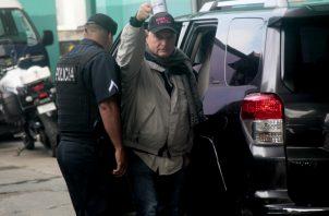 Ricardo Martinelli, a su llegada al Sistema Penal Acusatorio. Foto/Archivos