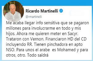 Ricardo Martinelli presentará denuncias penales por violaciones a los derechos humanos. Foto/Cortesía
