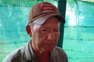 Ricardo Santiago, del Comité de Familiares de Desaparecidos durante la dictadura militar en Chiriquí. Foto: José Vásquez.