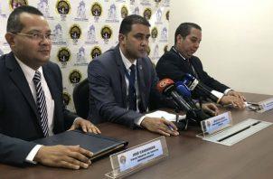 Fiscales brindaron una conferencia de prensa.