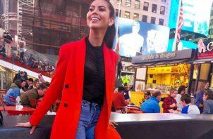 Rosa Iveth Montezuma en las calles de Nueva York. Foto: Instagram