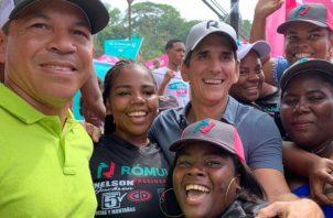 Las concentraciones de apoyo a Roux y Casís, en Antón y Portobelo, estuvieron concurridas. Foto de cortesía