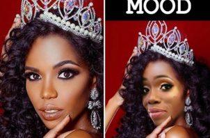 Roxana y la Miss República Dominicana.