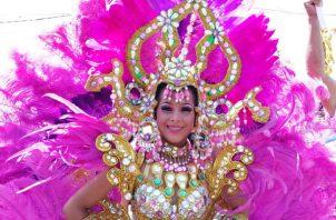 Sadith Moreno, reina del lunes de Carnaval en Sajalices de Chame. Foto/Eric Montenegro