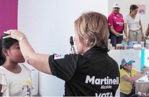 La campaña de Ricardo Martinelli realizó ayer una feria de salud en  el sector 9 de Gonzalillo, Panamá Norte.  Cortesía
