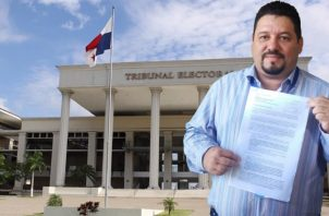 Interpuso advertencia ante el Tribunal Electoral y anunció que acudirá también a la Corte Suprema de Justicia. Foto de Adiel Bonilla