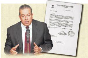 Carta enviada por el director del Inadeh a la ministra del Ministerio de Economía y Finanzas, Eyda Varela de Chinchilla, en la que justifica el traslado de partida. Foto/Panamá América