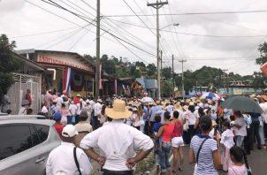 El tradicional tamborito es parte de las actividades que desarrollan los santeños residente en San Miguelito.