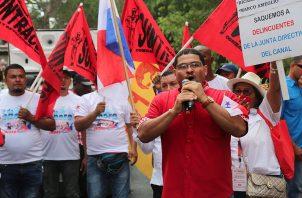 Candidato a la presidencia por el FAD, Saúl Méndez.