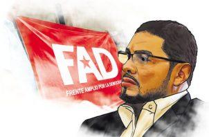 El dirigente del FAD, Sául Méndez, espera ser apoyado.