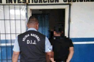 También fue capturado un sujeto de 27 años de edad, presuntamente implicado en la golpiza a una ciudadana en Barú. Foto/Mayra Madrid