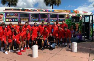 La selección de Panamá tuvo la oportunidad de conocer el Diablo Rojo de Tampa. Foto @Fepafut
