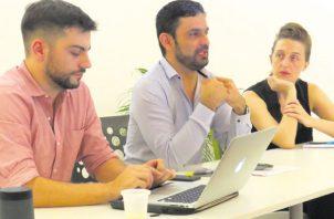 Los organizadores, durante el lanzamiento del interesante proyecto. /Foto: Cortesía.