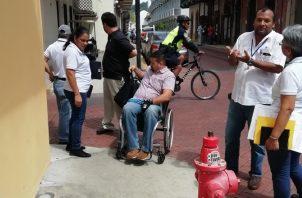 Momentos en los que se realizó la primera inspección de las autoridades con la Senadis. Foto: Cortesía