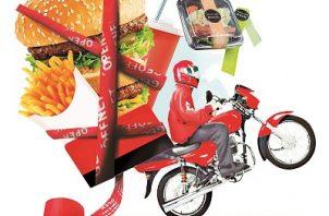 Se han popularizado las aplicaciones de delivery. Ilustración de Epasa