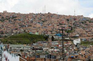 Vista del municipio de Soacha, cerca a Bogotá, considerado un territorio violento. Foto: EFE.