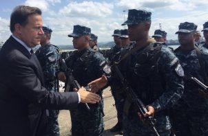 """El decreto de Varela deja a """"discreción"""", la cantidad de escoltas que llegue a necesitar. Foto de archivo"""