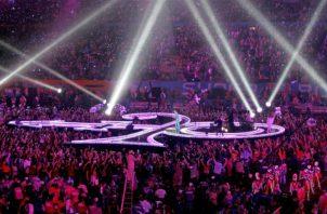 Vista general de la actuación del cantante estadounidense Prince.