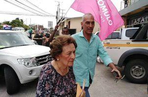 Susana Richa de Torrijos es una de las que reclama. Foto: Eric A. Montenegro.
