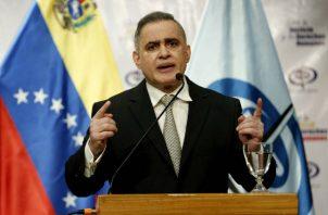 El fiscal general de Venezuela, Tarek Saab, en la sede del Ministerio Público de Caracas. Foto: EFE.