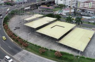 La faraónica tarima de 12 millones de dólares para la Jornada Mundial de la Juventud. Foto: Panamá América.