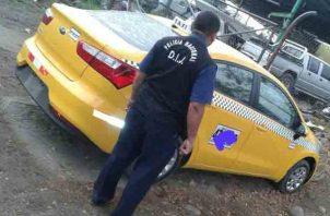 El auto fue encontrado en el distrito de Boquerón. Foto/José Vásquez