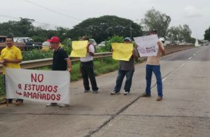 Los conductores exigen respuestas. Foto: Thays Domínguez.
