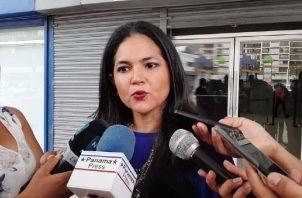 Tayra Barsallo, directora de la Autoridad Nacional de Aduanas. Foto de Víctor Arosemana.