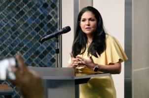 Tayra Barsallo es la directora general de la Autoridad Nacional de Aduanas.