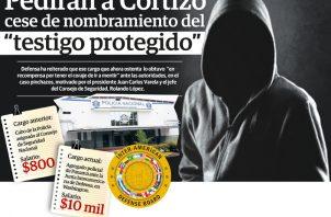 El testigo protegido cobra un salario cercano a los 10 mil dólares, más lo que devenga en la Policía Nacional. Ilustración Epasa.