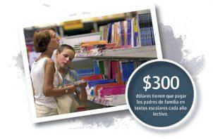 Cada año, el gasto que tienen que hacer los padres de familia en textos escolares aumenta considerablemente y oscila entre los $100 y $300.