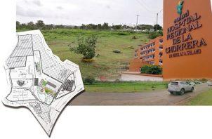 La finca en donde se encuentra el Hospital A, Solano, tiene un extensión de 61 hectáreas.