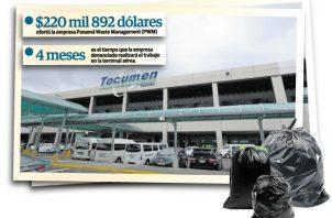 El Aeropuerto Internacional de Tocumen genera entre 7 o 8 toneladas de desechos internacionales por día.